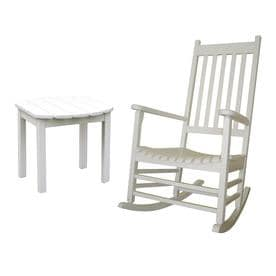 rocking chair white outdoor potty patio chairs at lowes com international concepts acacia with slat