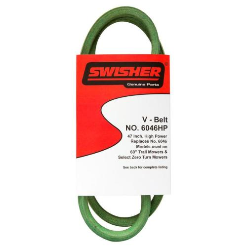 small resolution of swisher 60 in deck drive belt for riding lawn mowers