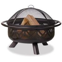 Shop Blue Rhino 36-in W Bronze Steel Wood-Burning Fire Pit ...