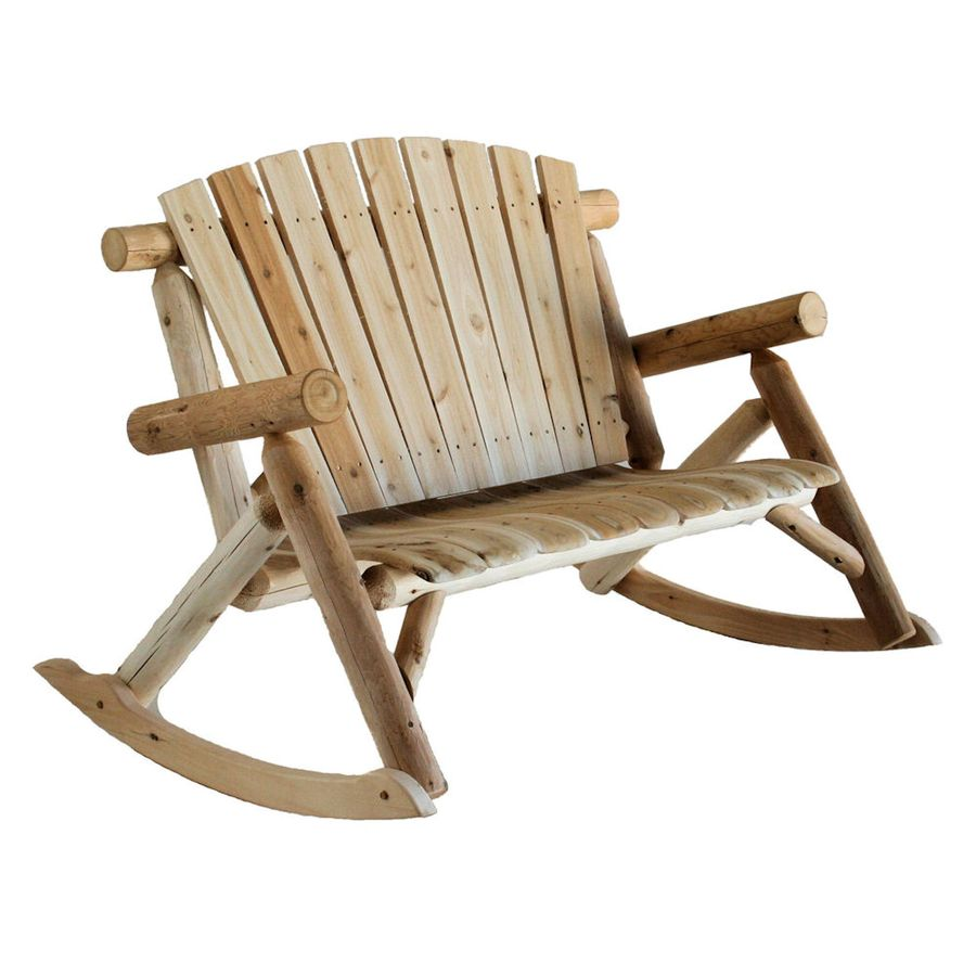 cedar rocking chairs camping heavy duty lakeland mills chair with slat at lowes com