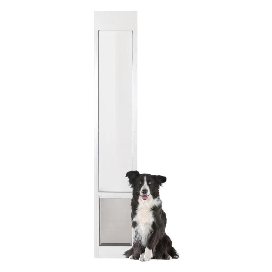 petsafe patio panel large 71 90 lb white aluminum sliding pet door