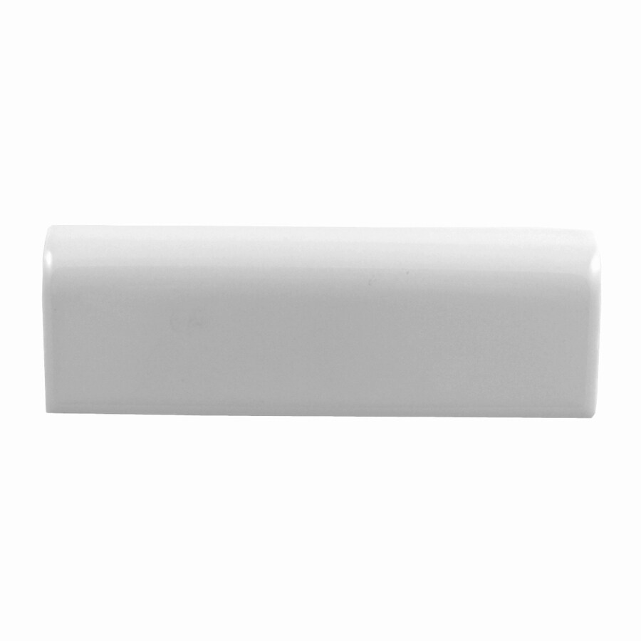 lowes chair rail tile black stretch folding covers american olean starting line white gloss ceramic common 2 in x 6 actual