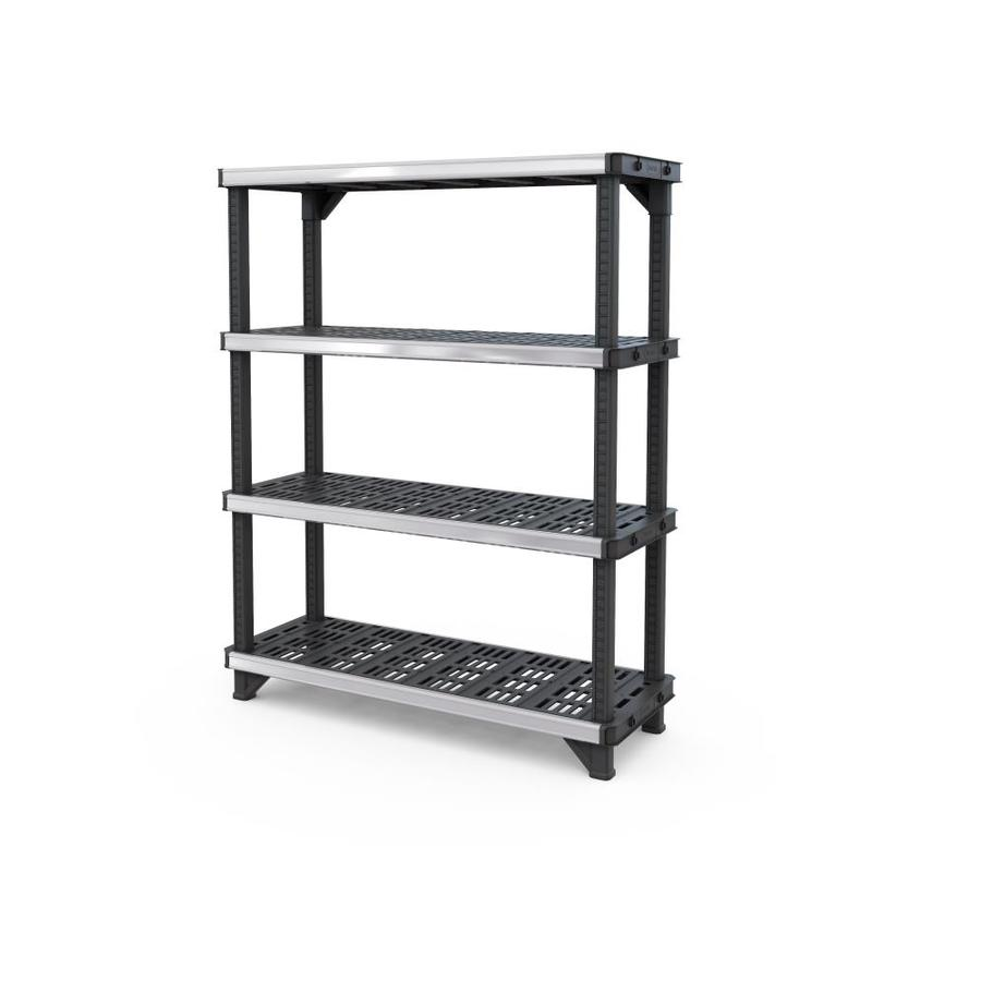 plastic freestanding shelving units