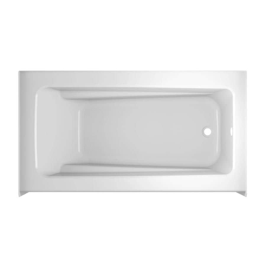 Shop Jacuzzi Primo 60 In White With Right Hand Drain At