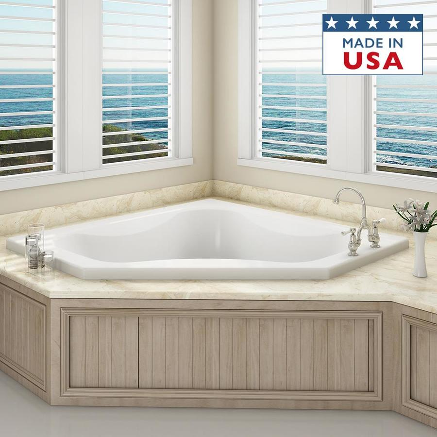 Shop Jacuzzi Primo 60 In White With Front Center Drain At