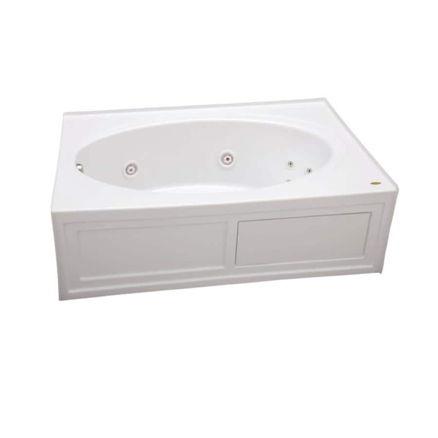 Jacuzzi Nova 60 In White Acrylic Oval In Rectangle Left