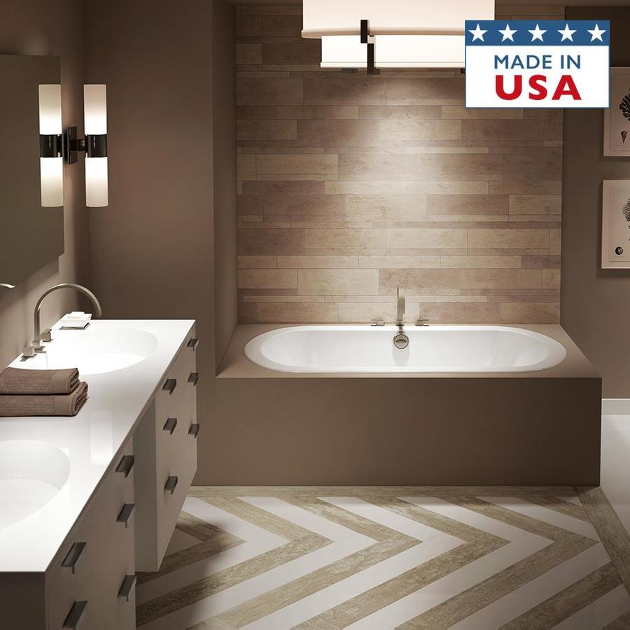 Shop Jacuzzi Anza 60 In White With Center Drain At
