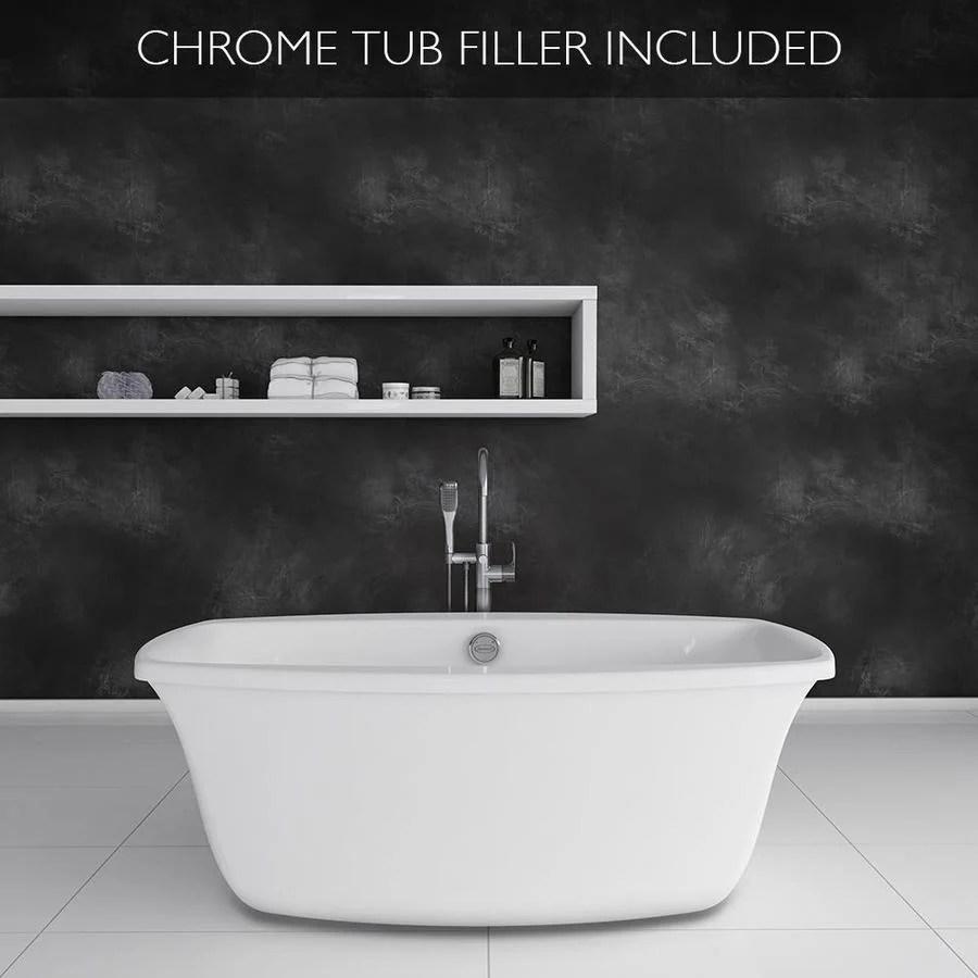 Shop Jacuzzi Primo 66 In White With Center Drain Bathtub
