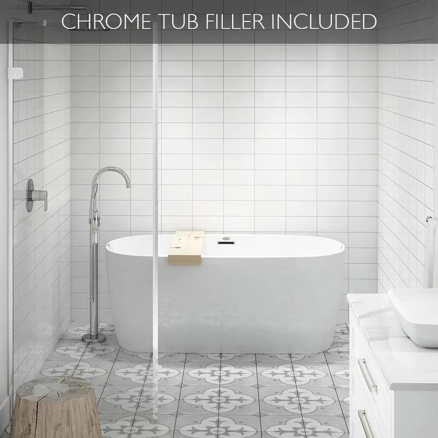 Jacuzzi Primo 59 In White Acrylic Freestanding Bathtub