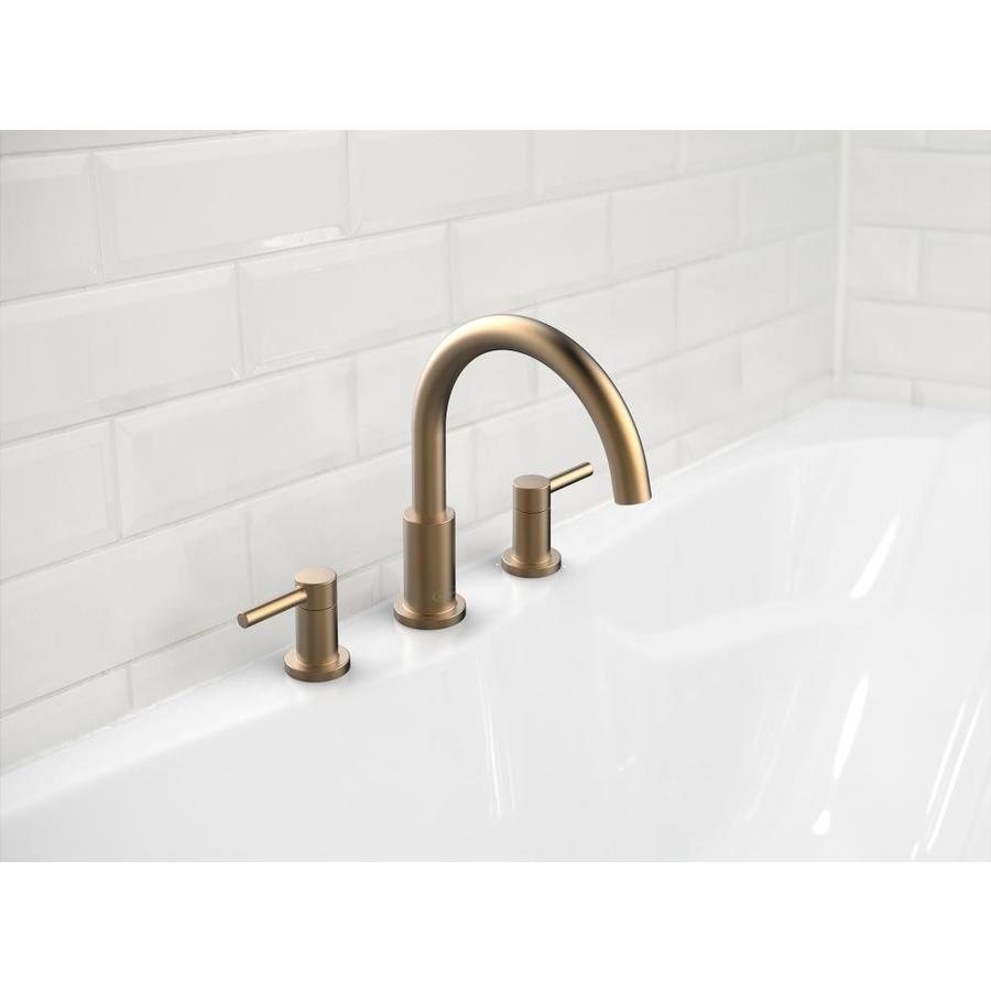 jacuzzi duncan bronze 2 handle residential deck mount roman bathtub faucet