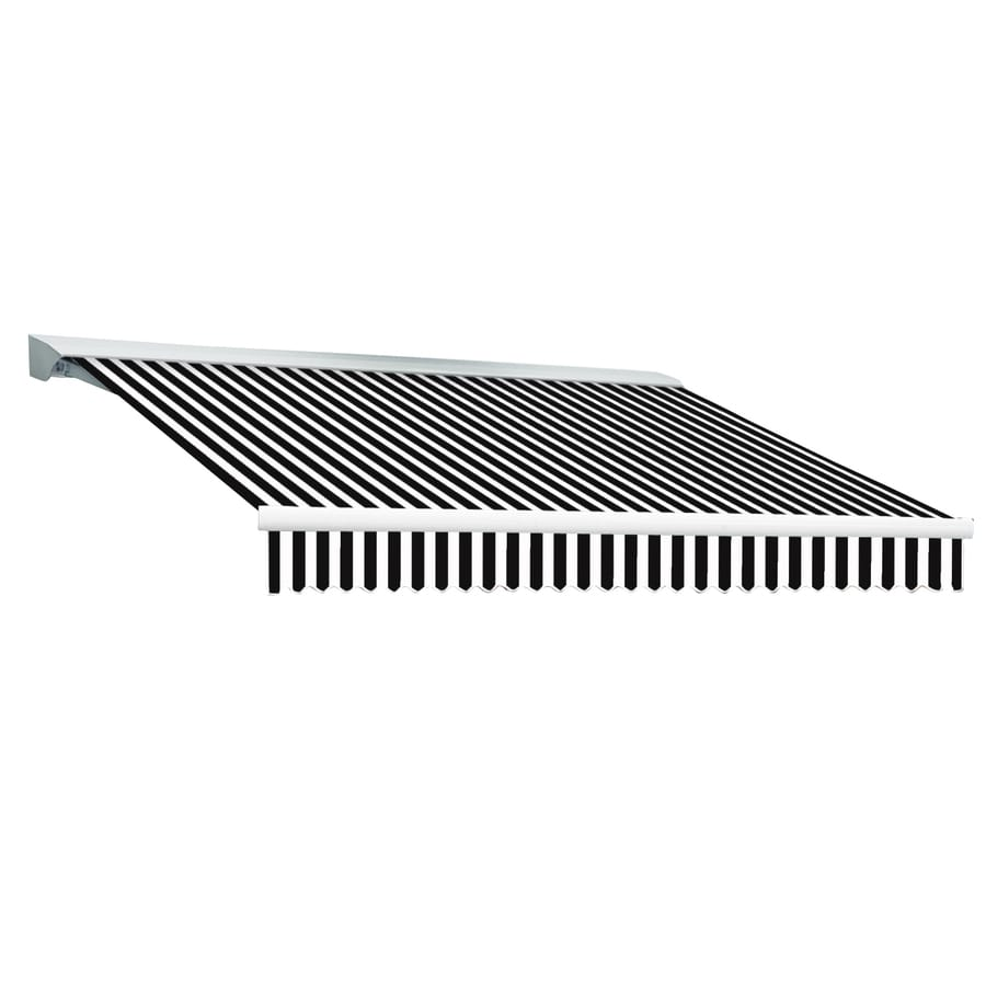 Shop Awntech 120-in Wide x 96-in Projection Black Pin