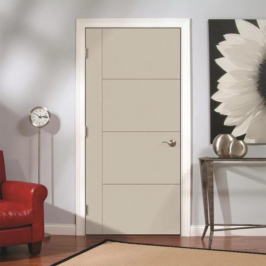 JELD-WEN Studio SL130 Ash 5-Panel Square Solid Core Hardboard Hardwood Pre-Hung Door (Common: 28-in x 80-in; Actual: 29.5625-in x 81.6875-in) in ...