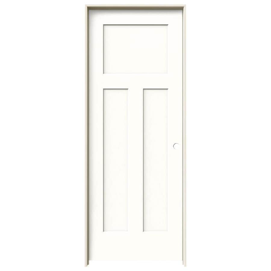 Shop JELD-WEN Snow Storm Prehung Hollow Core 3-Panel