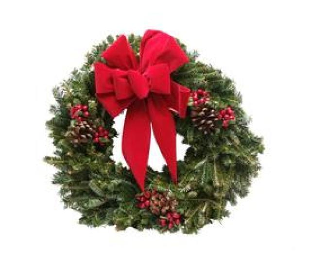 In Fresh Balsam Fir Christmas Wreath