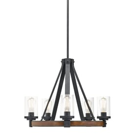 Display Product Reviews For Barrington 24 02 In 5 Light Distressed Black And Wood Rustic