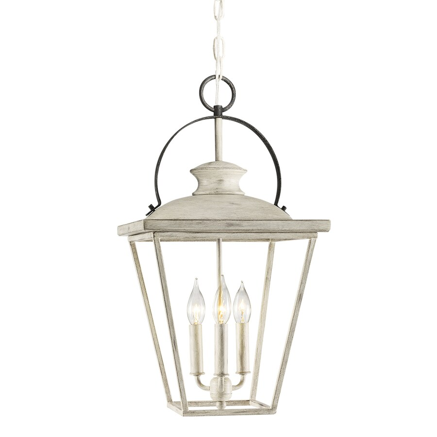 kichler arena cove distressed antique white and rust french country cottage lantern pendant light lowes com