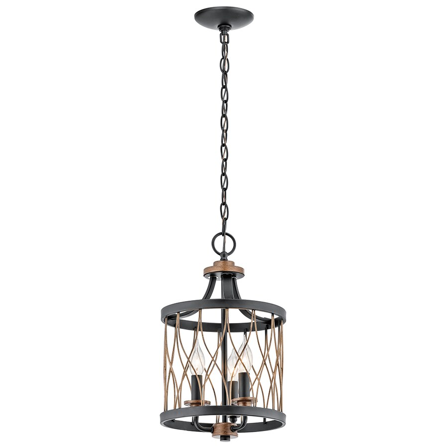 Shop Kichler Brookglen Black with Gold Tone French Country