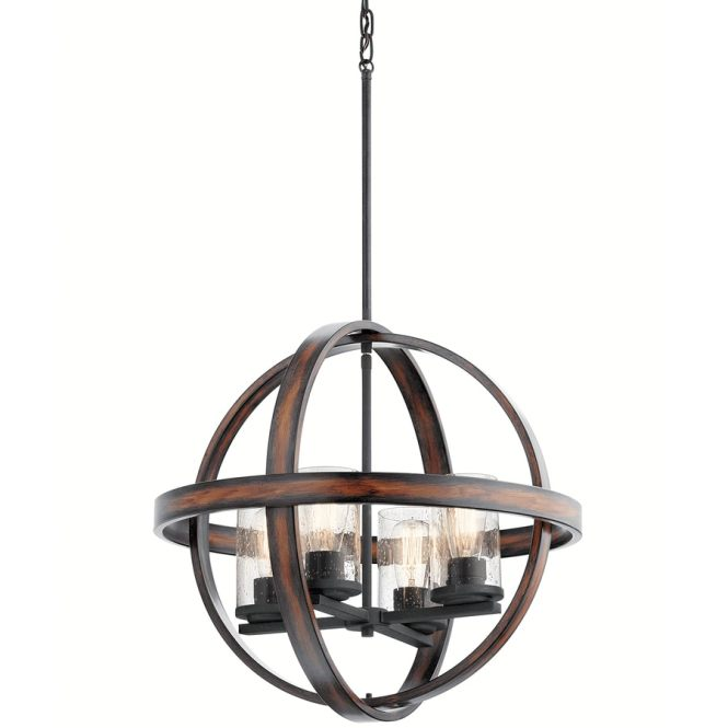 Kichler Barrington 21 25 In Art Deco Single Seeded Glass Orb Pendant