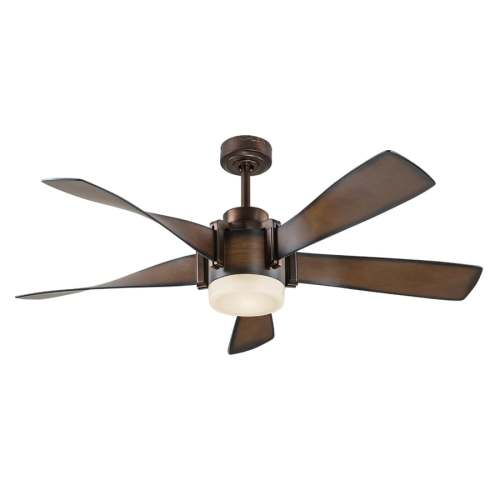 small resolution of kichler 52 in brown led indoor ceiling fan with light kit and remote 5 blade