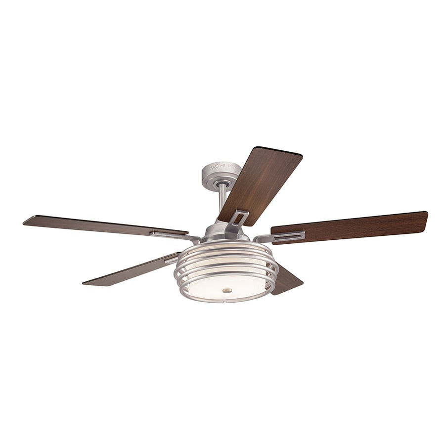 hight resolution of kichler bands 52 in brushed nickel indoor ceiling fan with light kit rh lowes com hampton bay ceiling fan wiring diagram ceiling fan wiring diagram 2