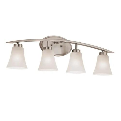 small resolution of portfolio lyndsay 4 light 30 13 in satin nickel bell vanity light