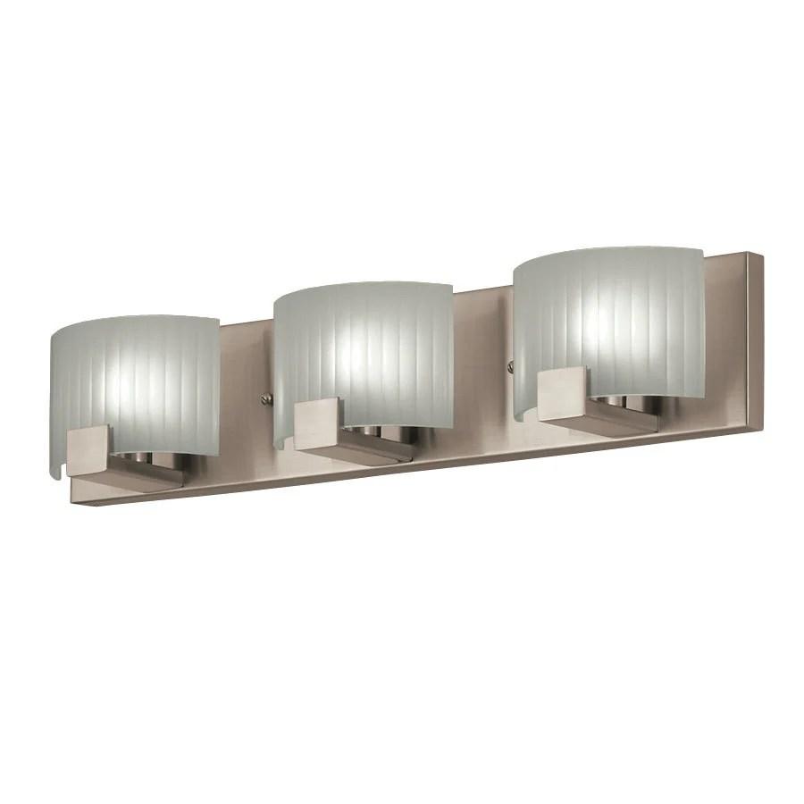 Shop Portfolio 3Light Brushed Nickel Rectangle Vanity Light Bar at Lowescom