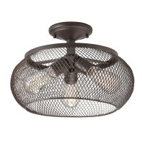 Shop Kichler 14.02-in W Olde Bronze Metal Semi-Flush Mount ...