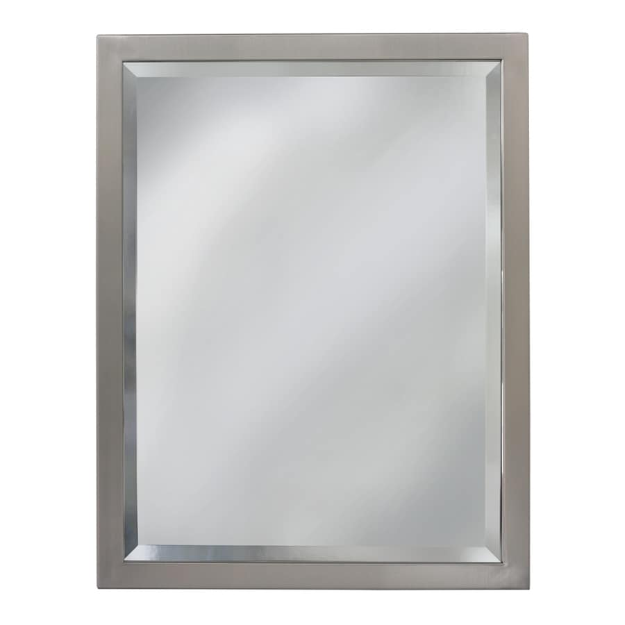 Allen  roth 24in Brush Nickel Rectangular Bathroom