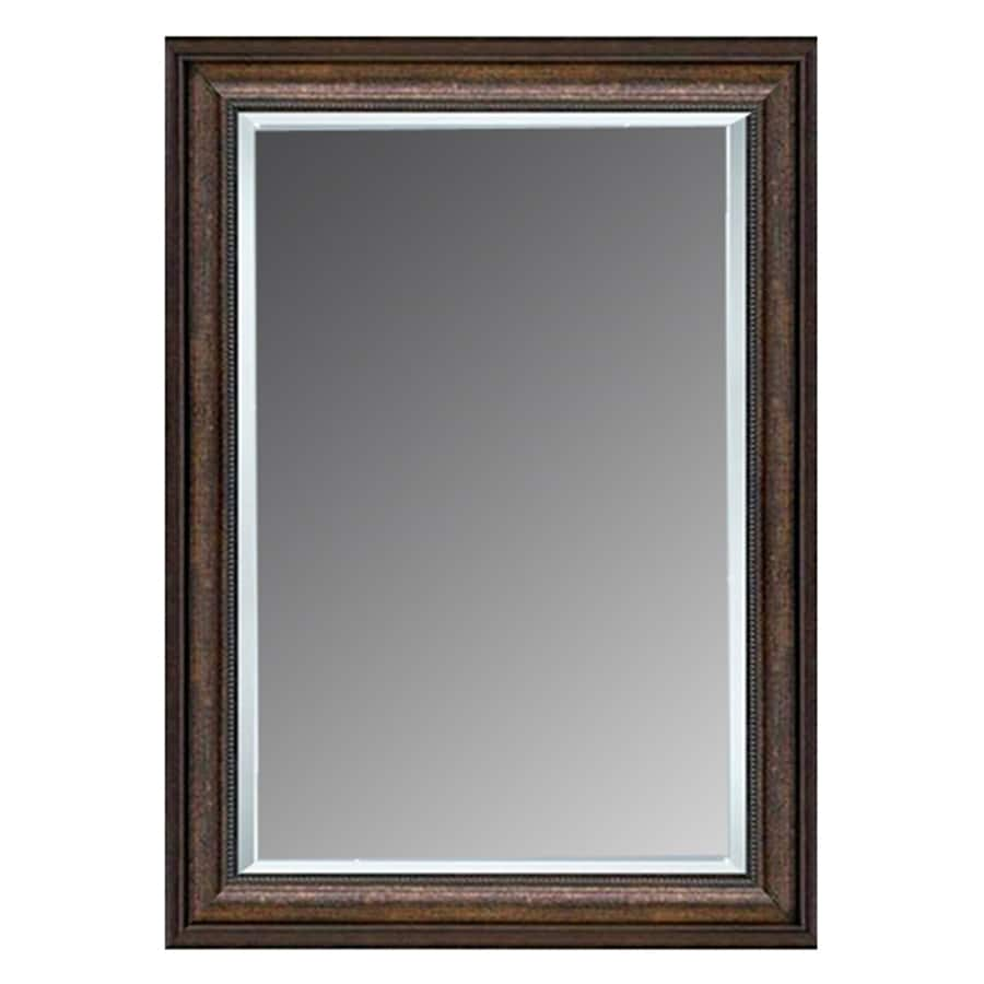 Allen  roth 46in L x 36in W Copper Beveled Wall Mirror at Lowescom