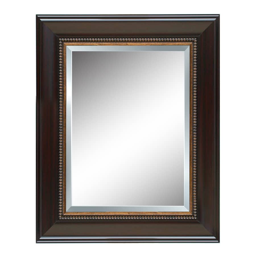 Style Selections 44in L x 32in W Cherry Beveled Wall Mirror at Lowescom
