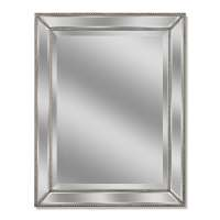 Shop allen + roth Silver Beveled Wall Mirror at Lowes.com