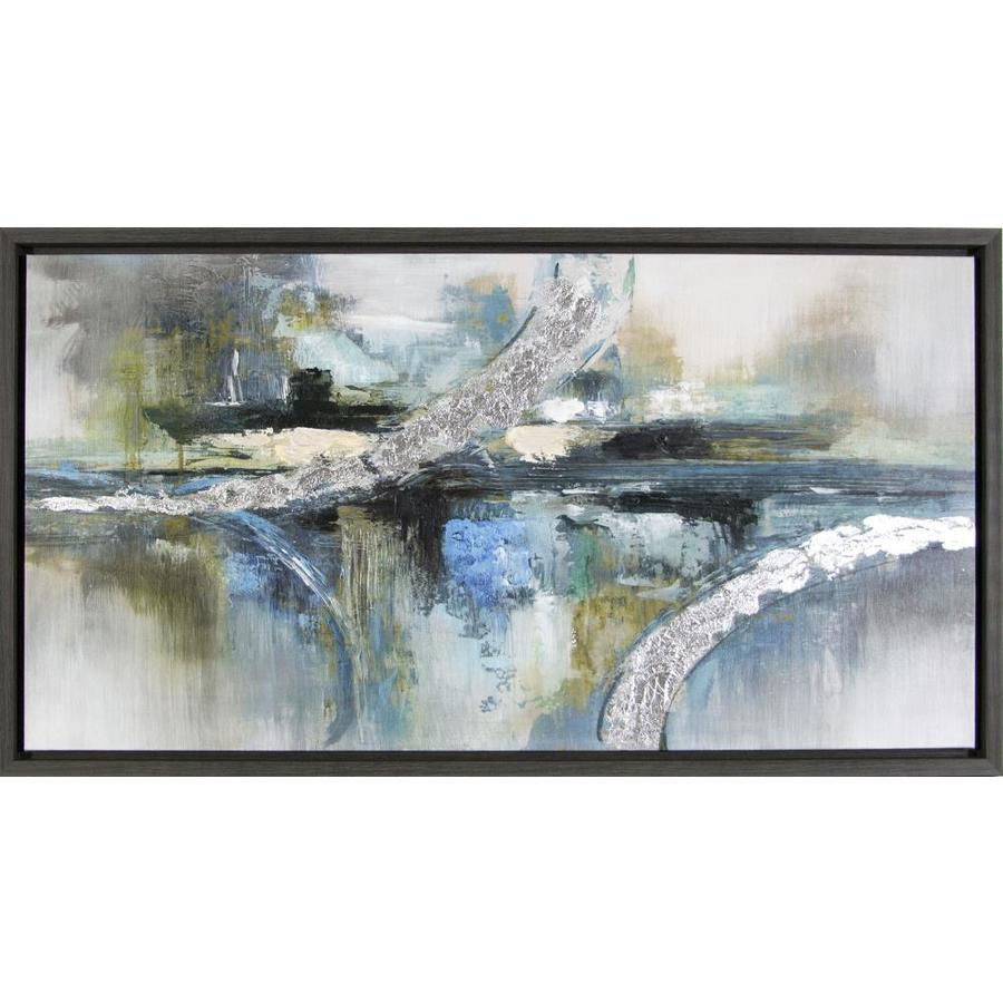 Framed Abstract Painting On Canvas At Lowes Com