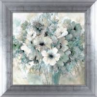 Shop 34-in W x 34-in H Framed Plastic Floral Print Wall ...