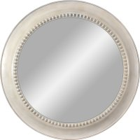 Shop White Polished Round Wall Mirror at Lowes.com