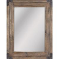 Shop allen + roth Reclaimed Wood Beveled Wall Mirror at ...