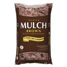 Premium 2-cu Ft Dark Brown Hardwood Mulch