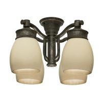 Shop Casablanca 4-Light Aged Bronze Fluorescent Ceiling ...