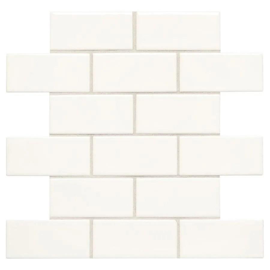american olean starting line white gloss 12 in x 12 in glazed ceramic brick wall tile