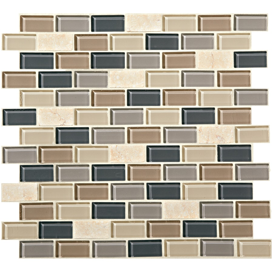 american olean best buy downtown basketweave mosaic glass metal stone wall tile common 12 in x 12 in actual 11 87 in x 11 87 in in the tile department at lowes com