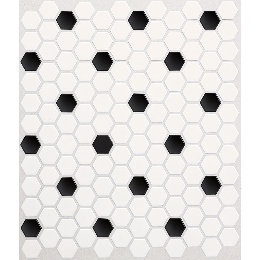 american olean alameda satin white 12 in x 12 in glazed ceramic honeycomb tile