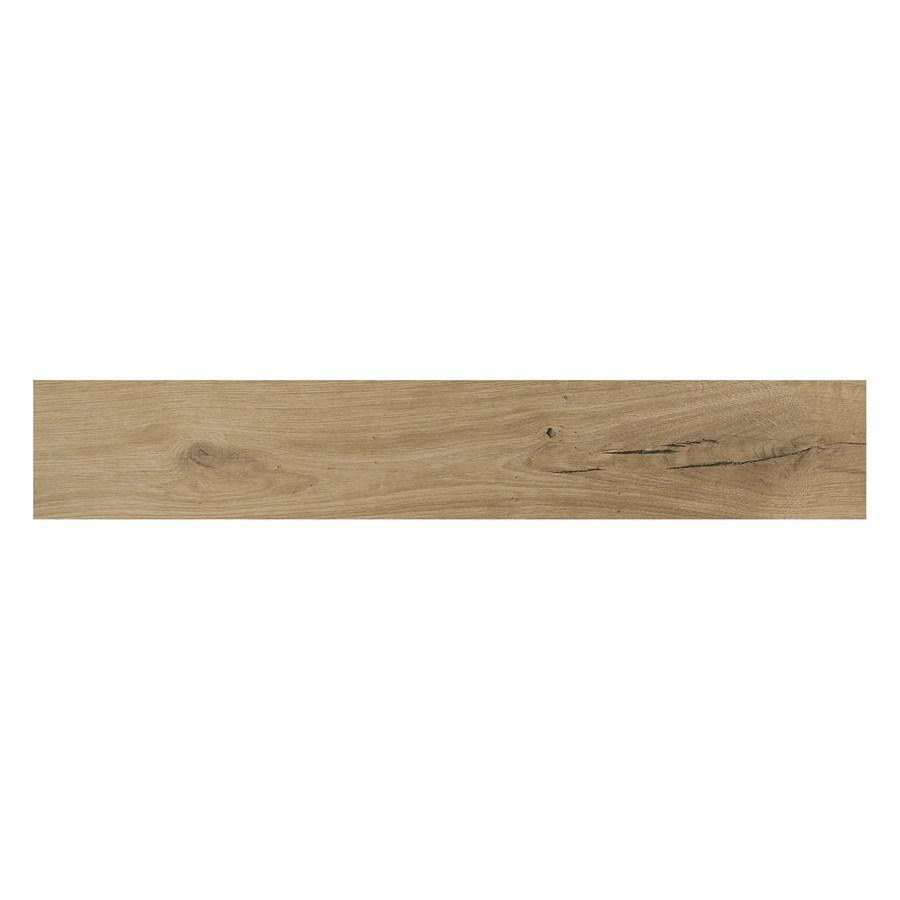 american olean woodstory natural oak 6 in x 36 in glazed porcelain wood look tile