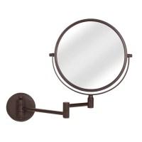 Shop Giagni Bronze Zinc Magnifying Wall-Mounted Vanity ...