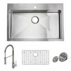 Kitchen Sink At Lowes Locking Cabinets Sinks Com Giagni Trattoria 33 In X 22 Stainless Steel Single Basin Drop