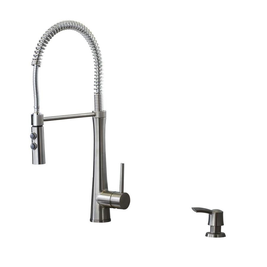 kitchen faucets stainless steel parts of a faucet giagni fresco 1 handle deck mount pre rinse
