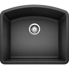 Black Kitchen Sink Lowes Resurface Cabinets Blanco Diamond 20 813 In X 24 Anthracite Single Basin Granite Undermount Residential