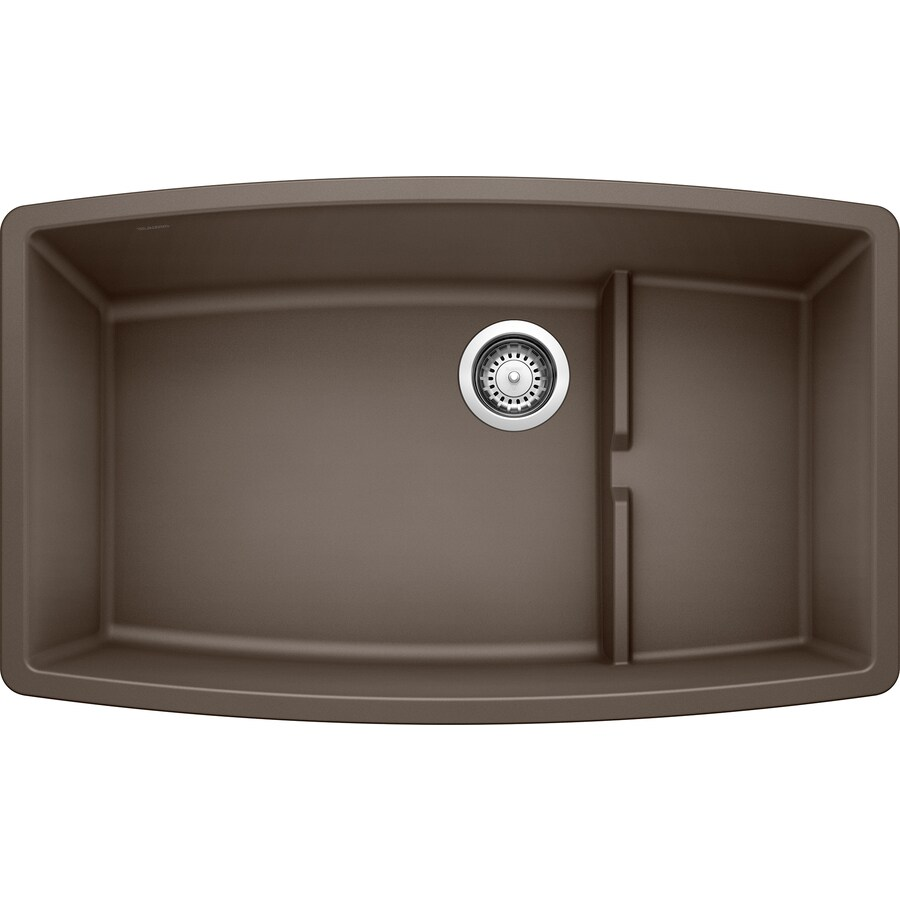 undermount kitchen sinks at lowes making a island from cabinets shop blanco performa 19.5-in x 32-in cafe brown single ...