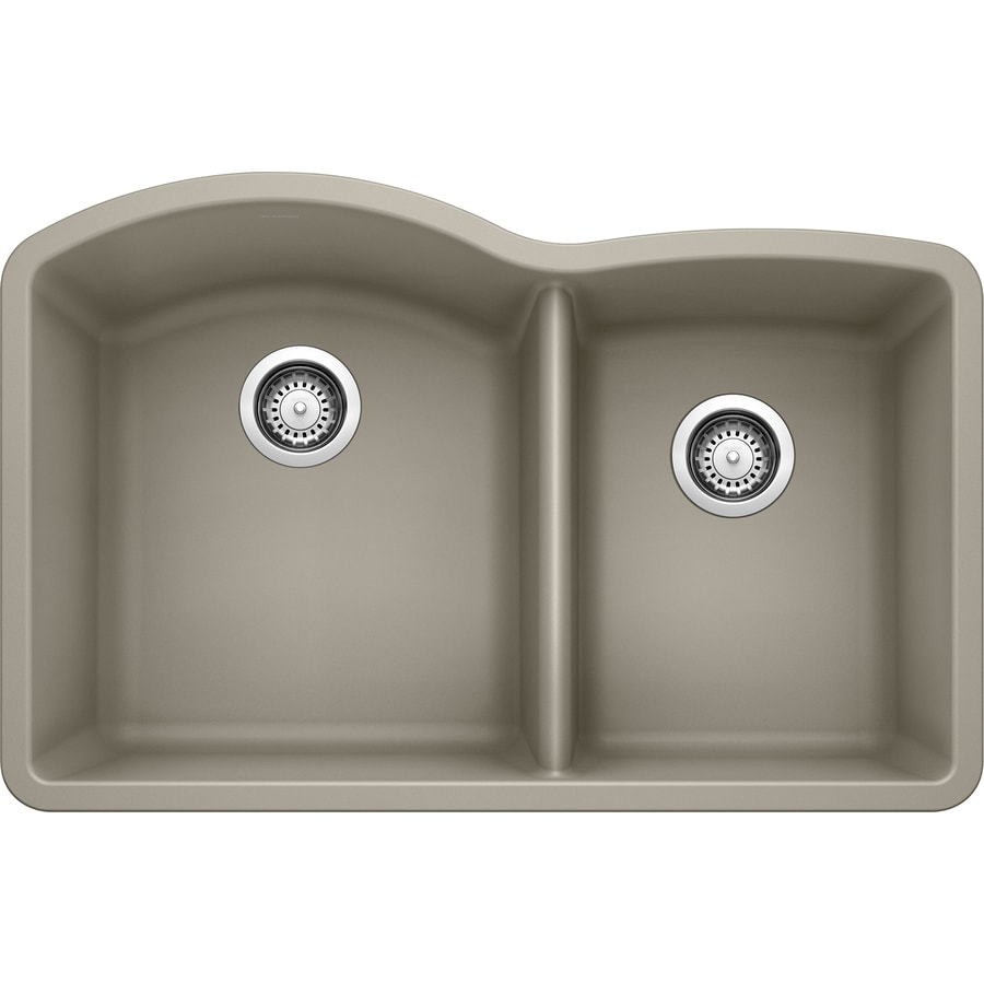undermount kitchen sinks lowes decorative plates for wall shop blanco diamond 32-in x 20.8438-in truffle (brown ...