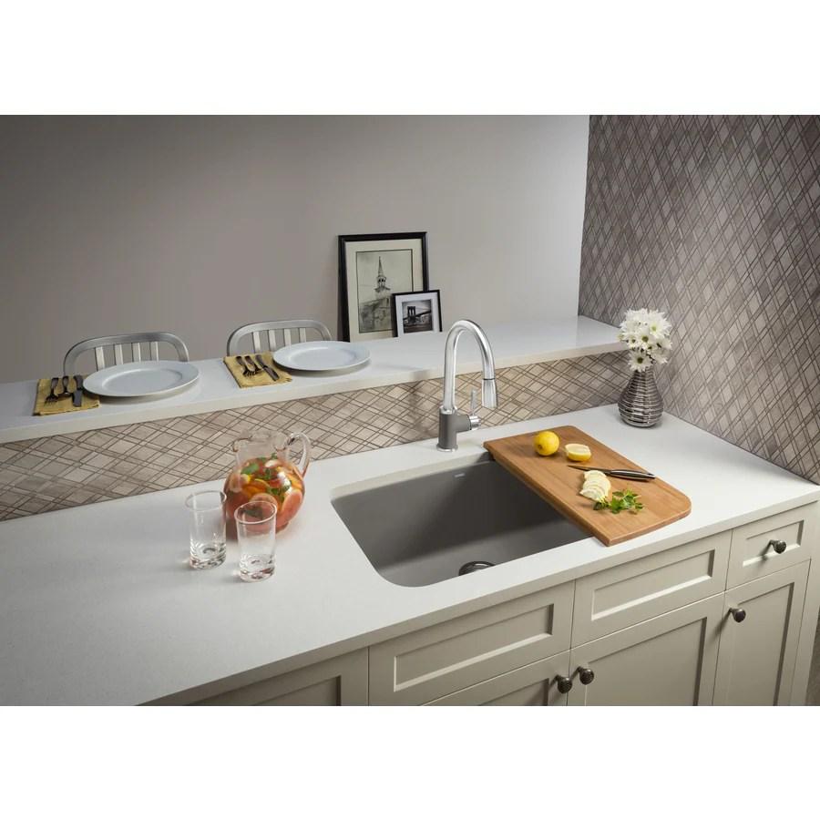 blanco valea undermount 32 in x 19 in truffle brown single bowl kitchen sink