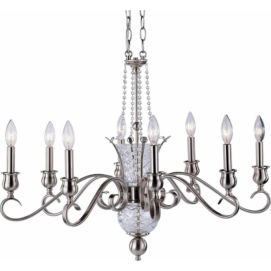 Shop Pixley 30.25-in 8-Light Brushed Nickel Candle