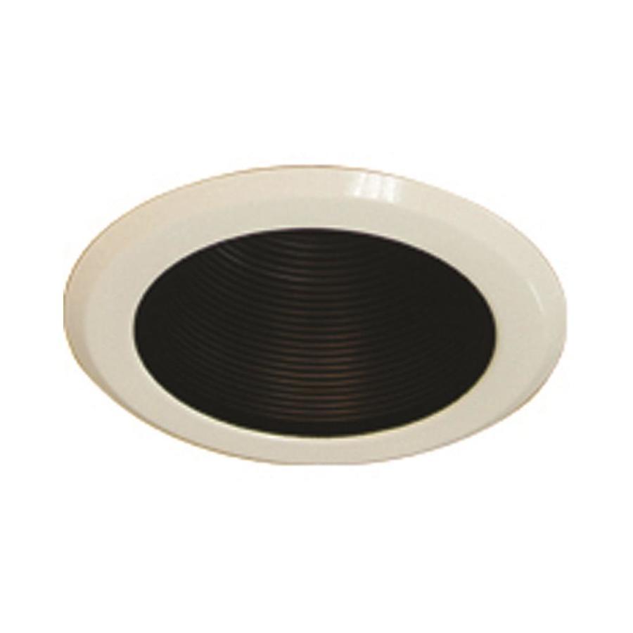 volume lighting 5 in black baffle recessed light trim